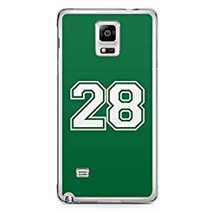 28 Samsung Note 4 Transparent Edge Case - Numbers Collection