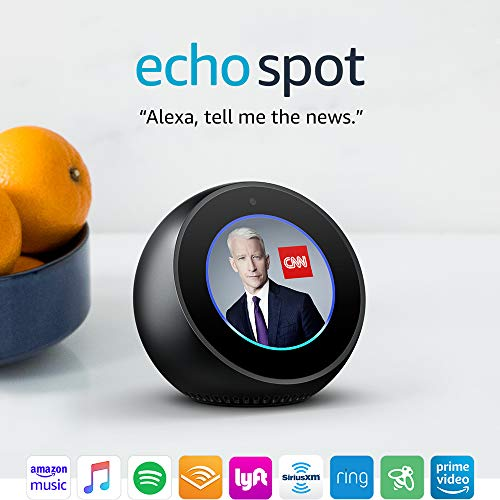 Echo Spot – Smart Alarm Clock with Alexa – Black