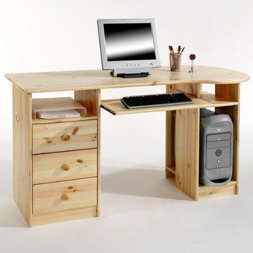 Idimex BOB-2 - Escritorio (madera de pino maciza), color natural ...