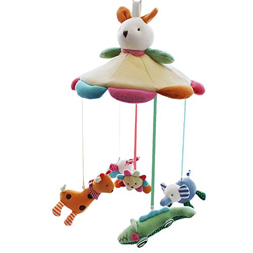 SHILOH Baby Crib Decoration 60 tunes Lullabies Pllush Musical Mobile (Bunny Famliy)
