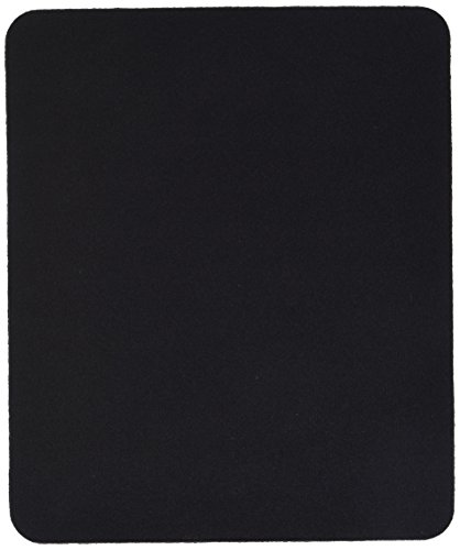 10 Pack Black Mouse Pad Fabric W/Rubber Backing 8x9x25in