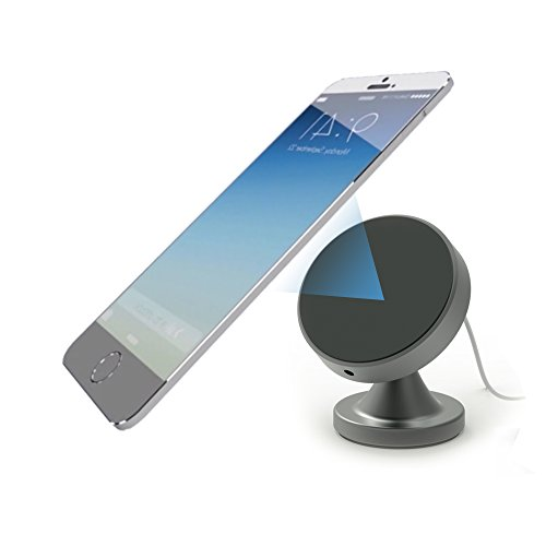 Fast Wireless Car Charger & Desktop Mount with Nano Pad Suction & Magnetic Base For Qi Enable Devices Vehicle Phone Charging Holder iPhone 8/ 8 Plus, iPhone X, Samsung Galaxy S8/ S8+/ S7/ Edge S7/ S6+