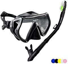Premium Grade Mask and Snorkel Set for Adults Professional Grade Materials Built to last! The product is manufactured using highly durable premium materials.  The silicone mask skirt and mouth-piece provide maximum comfort and long-lasting pe...