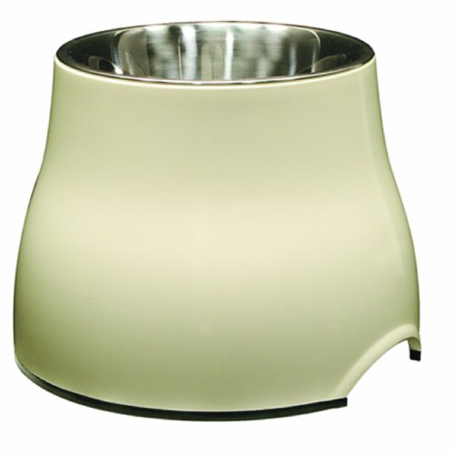 - Dogit Elevated Dog Bowl, Stainless Steel Food & Water Dish for Dogs, Large, White