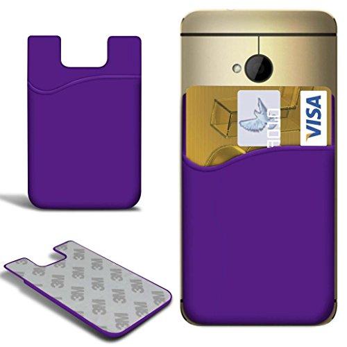 N4U Online - Apple Iphone 5C Slim bâton silicone / carte Débit Crédit Housse de fente de la peau - Violet