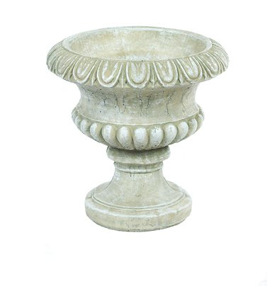 Stone Old Planter - Solid Rock Stoneworks Round Classic Stone Garden Planter 14in Tall Desert Sand Color