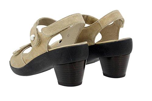 Sandales Amovible Cosmo Semelle Chaussure 180446 Beig à Confort Femme PieSanto 4a1qwCHxd1
