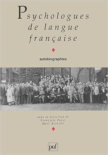 Livre Psychologues de langue française pdf, epub ebook