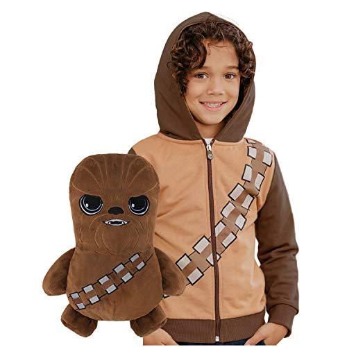 Cubcoats Star Wars Chewbacca - 2-in-1 Transforming Hoodie & Soft Plushie - Chewie Brown