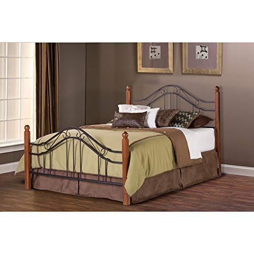 Hillsdale Furniture 1010BKR Madison Bed Set with Rails, King, Textured Black (Wrought Iron King Size Beds For Sale)
