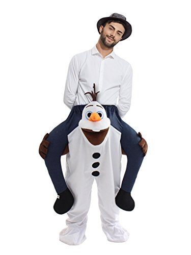 rushopn Piggyback Frozen Olaf Carry Me Ride Snowman Mascot Costume