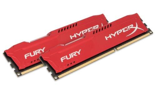 HyperX Fury - Memoria RAM, kit de 2 x 8 GB (1866 MHz DDR3 Non-ECC CL10 DIMM), 1.5V , Color Rojo