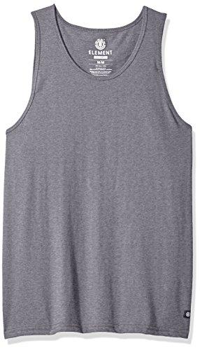 Element Men's Basic Knit Tank Top, Grey Heather, - Element Top Cotton Tank