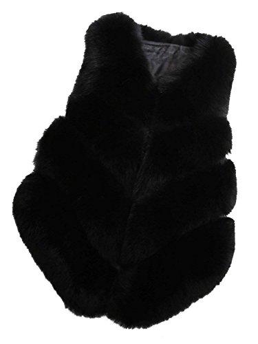 段落廃止自己尊重[CHOiES record your inspired fashion] [Women`s Faux Fur Coat Vest Party Fur Waist Coat] (並行輸入品)