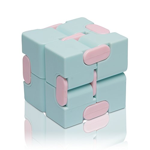 Reliever Stress Cube (Fidget Finger Toys Infinity Cube - Pinkycolor EDC Fidgeting Game - Lovely Mini Gadget Best For Stress and Anxiety Relief and Kill Time - Luxury)