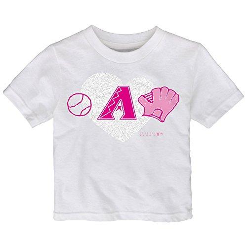 MLB Arizona Diamondbacks Toddler Girls Love Baseball Tee,...
