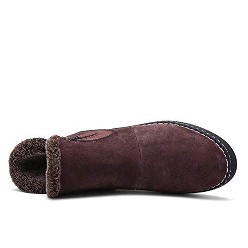 À Bottes shoes Inside Durable; 40 color Bnd Eu Home De Marron Marron Chaussures Pour D'hiver Supporter L'usure Hommes La Faux Casual Fleece Haut Taille Neige Mode 65qdId
