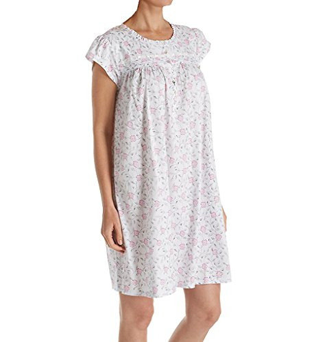 Eileen West Floral Jersey Short Nightgown (5019858) M/Multi Floral Scroll -