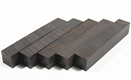 (5 Blanks) Craftwood Africa Blackwood Turning Blanks Wooden Pens Block 20mm x 20mm x 127mm Xliji