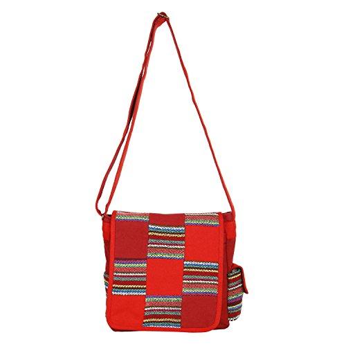 Anekaant Whimsical Canvas Messenger Bag