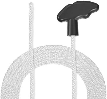 sourcing map Rückstoß Anlasser Seil mit weichem Griff 4mm Dmr. 1,3 Meter 4ft Nylon Zugschnur für 168F 170F Rasenmäher Trimmer Kettensäge Motor Teil
