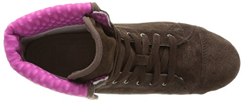 Crocs Women's LoPro Suede Hi-Top Fashion Sneaker Brown (Espresso/Fuchsia) lowest price sale online low cost cheap price Z8vTDHwW2