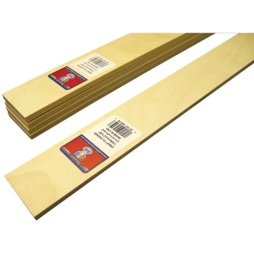 Midwest Products Craft Plywood sLAT, 2.5 X 36-Inches, Set of 5