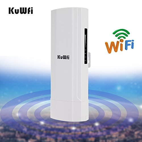 KuWFi WDS Waterproof 300Mbps Wireless Bridge Outdoor CPE Point to Point 3KM Distance Outdoor Wireless Access Point CPE Router with WiFi Long Range Router More WiFi Range by KuWFi