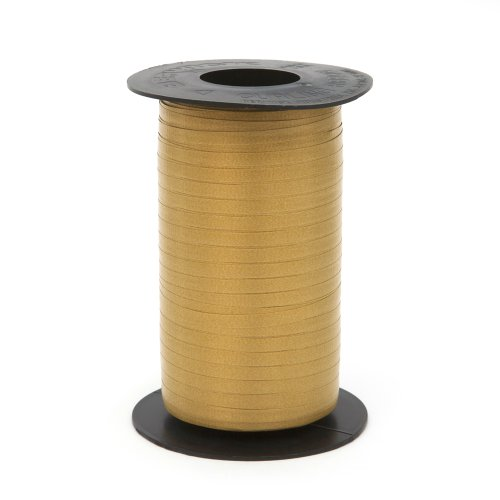 Berwick Splendorette Crimped Curling Ribbon, 3/16-Inch Wide by 500-Yard Spool, Holiday Gold Curling Ribbon 500 Yard Spool