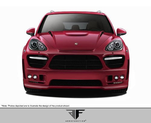3 Body Wide Kit (AF-3 Widebody Front Bumper Cover (GFK CFP) - 1 Piece Body Kit - Fits Porsche Cayenne 2011-2014)