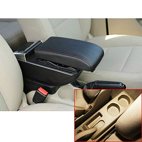 MyGone for Nissan Sentra/Sylphy Car Center Consoles Top Grade Armrest Storage Box Accessories,Arm Rest,with Cup Holder,Removable Ashtray,Built-in LED Light,Black