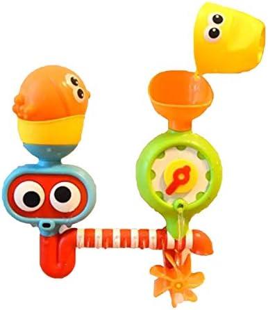 ZUOMAキッズ玩具 浴室玩具 水の風車 お風呂遊び 水遊び ノズル玩具 パズル 楽しみ キャラクター  (05)