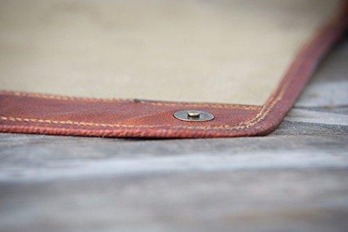 Unisex Cross Shoulder Laptop Leather Messenger Bag