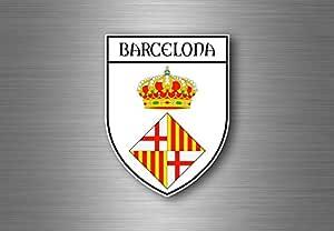 Adhesivo de recuerdo coche escudo de armas escudo ciudad bandera España Barcelona: Amazon.es: Coche y moto