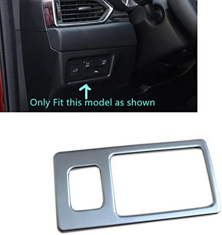 HIGH FLYING Front Inner Head Light Lamp Switch Button Decor Trim ABS Matte for Mazda CX-5 2018 2019 2020
