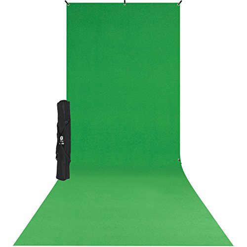 Westcott 579SK X-Drop Wrinkle-Resistant Backdrop Kit - Chroma-Key Green Sweep (5' x 12') by Westcott
