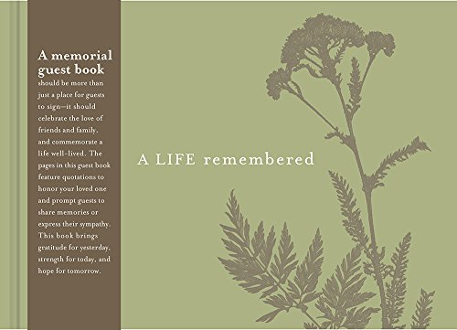 A Life Remembered: Funeral Guest Book (Guest Book)