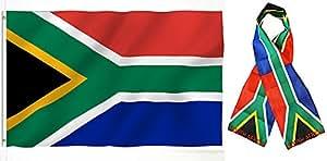 """Al por mayor Combo Set Sur África África país 3x 53'x5' bandera y 8""""x60 bufanda resistente a la decoloración doble cosido Premium banderín casa bandera ojales"""
