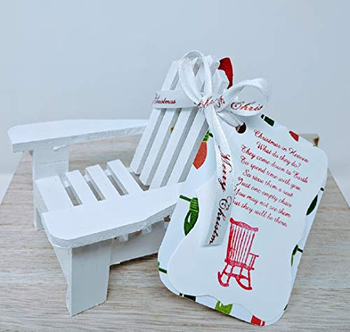 Christmas in Heaven Chair Ornament - Remembrance Gift - White (Grandma Merry Christmas Poem)