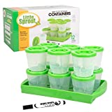 Baby Food Containers By Little Sprout: Reusable Stackable Storage Cups with Tray