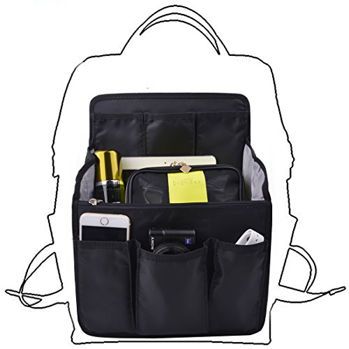 bag-in-bag-Shoulders-Bag-Rucksack-Insert-Backpack-Organizer-for-WomenBlack