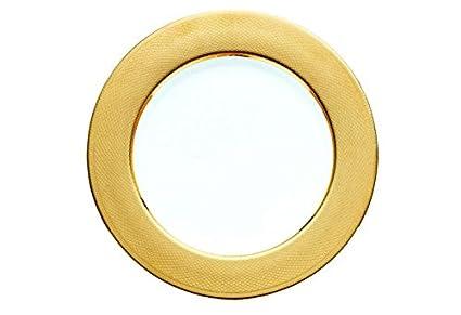 Christofle guilloché – Bajoplato, Oro 29,5 cm