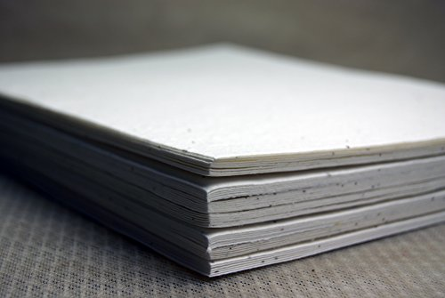 White Seed Paper Heavy weight (80lb.) 8.5 x 11 pack of 30 handmade Card stock cotton fiber