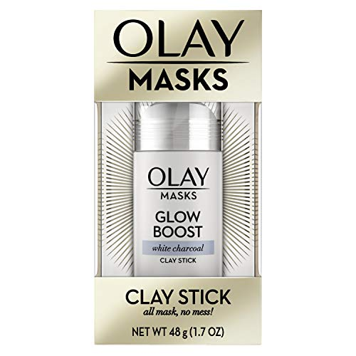 Face Masks by Olay, Clay Charcoal Facial Mask Stick, Glow Boost White Charcoal, 1.7 Oz ()