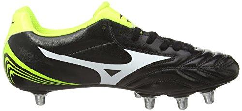 MizunoWaitangi Cl - Zapatillas Para Rugby Hombre Negro (black/white/yellow)