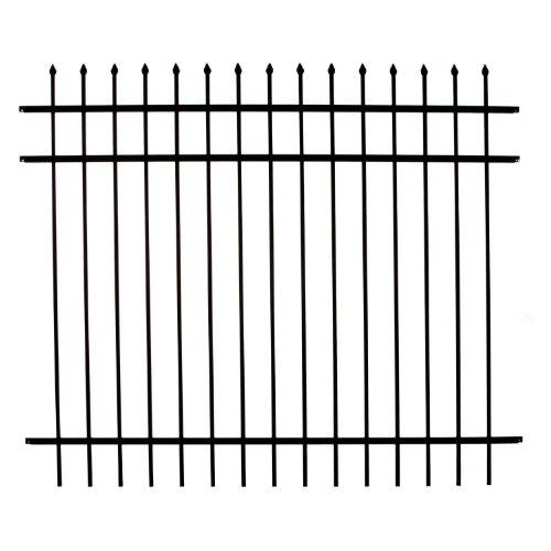 (Specrail DIY Fence RR1483BL Branford Aluminum 3-Rail Fence Panel, 48-Inch by 6-Feet)
