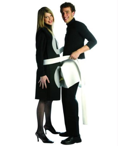 Famous Halloween Costume Ideas For Couples (Rasta Imposta Plug and Socket Couples Costume Packaged Together, Black/White, One)