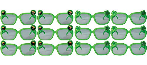 Amscan 394948 St. Patrick's Day Plastic Glasses, One Size, Green