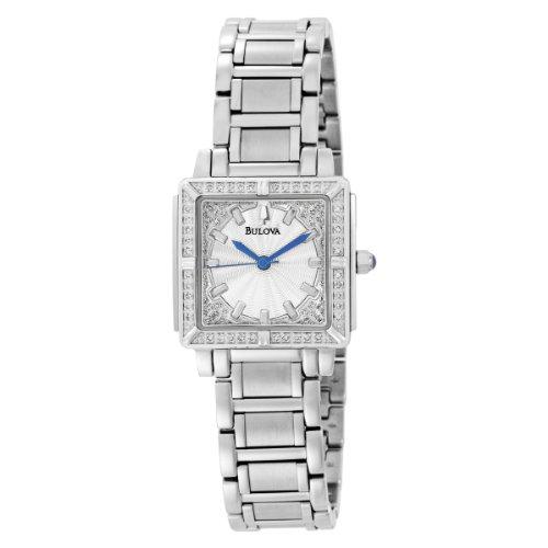 Bulova Women's 96R129 Silver Dial 100 Diamonds Bracelet Watch