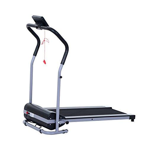 homcom Laufband Elektrisches Fitnessgerät Heimtrainer LED Display Sportgerät, Schwarz, A90-056